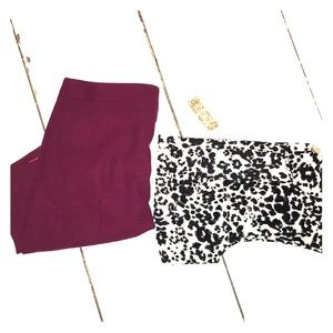 JCrew Perfect Pencil Skirt in Burgundy